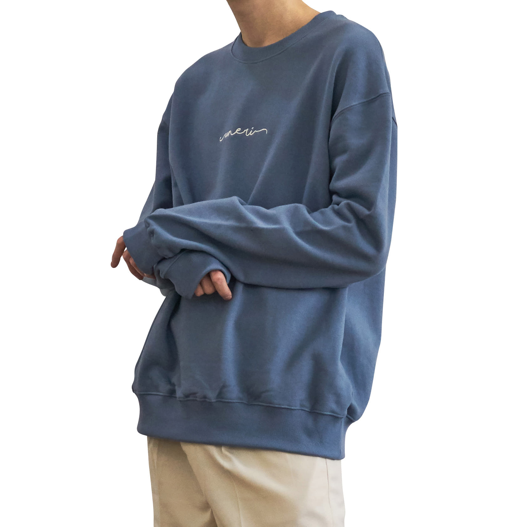 Oversized Logo Sweat _ blue
