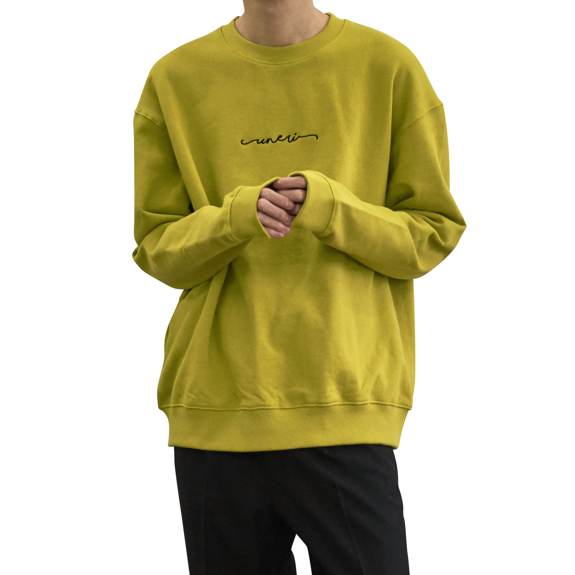 Oversized Logo Sweat _ Lime