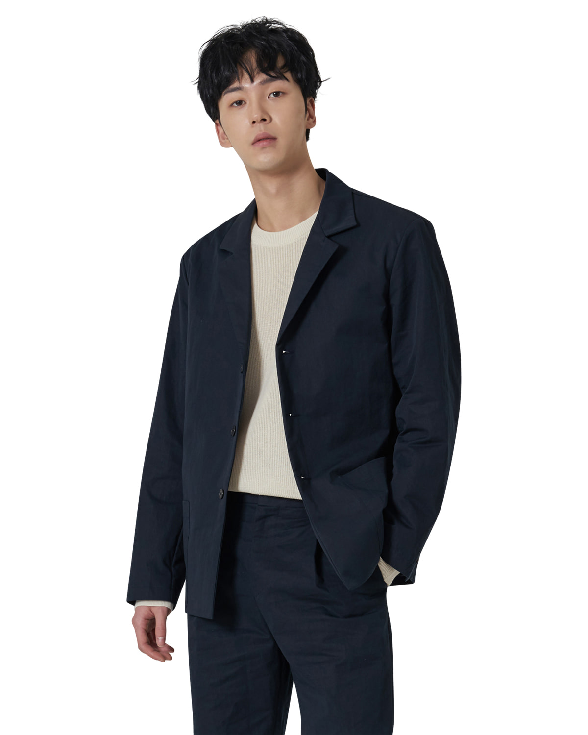Easy Cotton Jacket _ navy