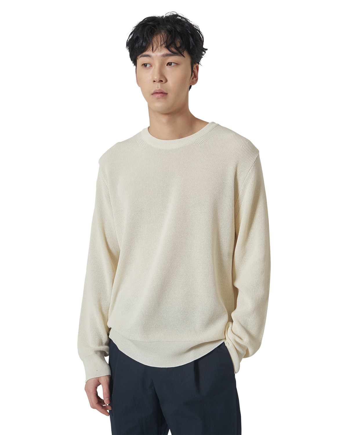 Relaxed Cotton Knit _ cream
