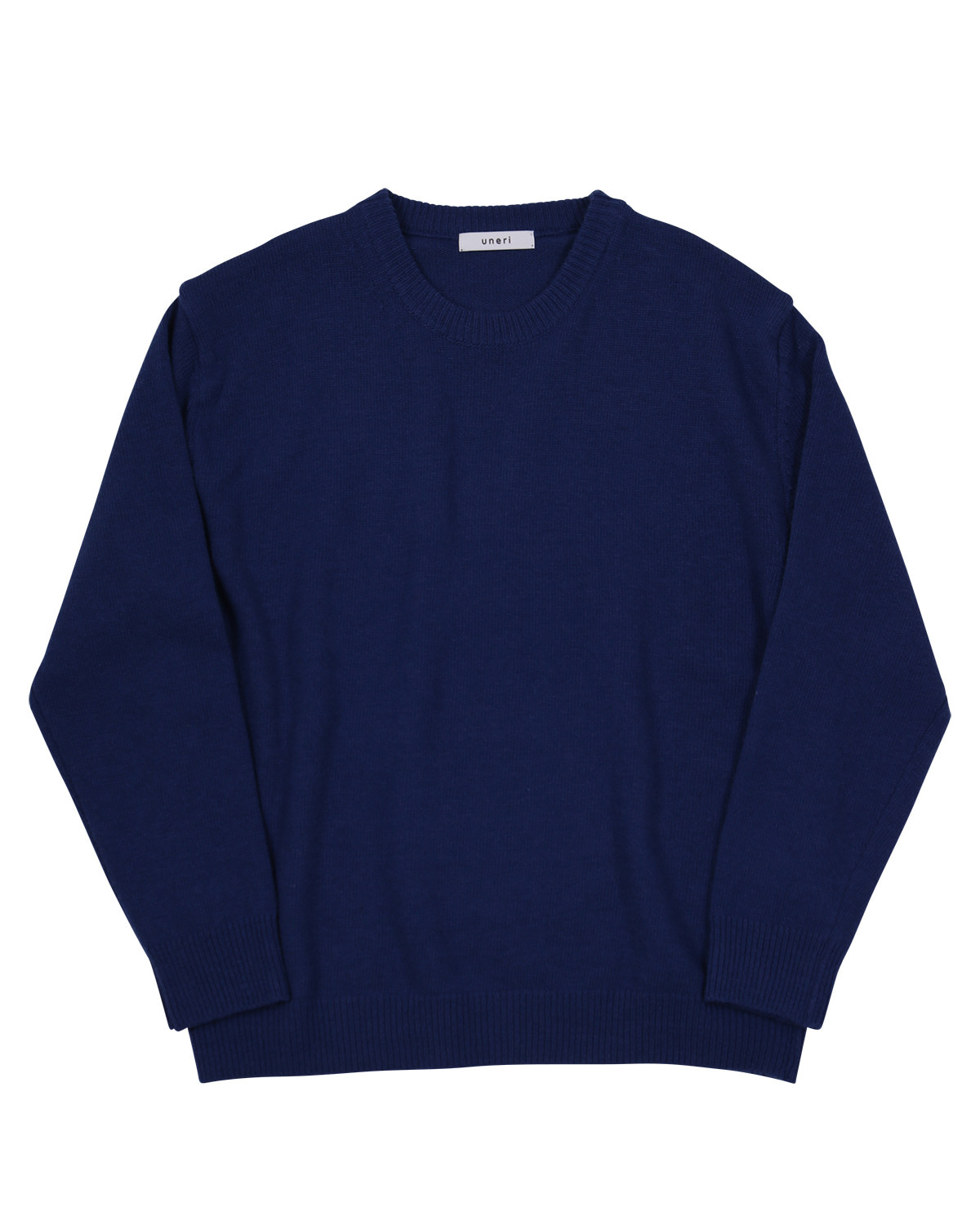 Relaxed Wool Knit _ deepblue